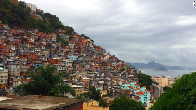It's been estimated that there are over one million people living in Rio de Janiero's favelas.