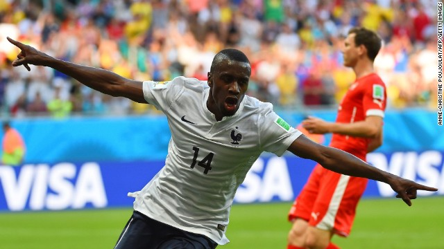 Blaise Matuidi celebrates his first-half goal, which gave France a 2-0 lead.