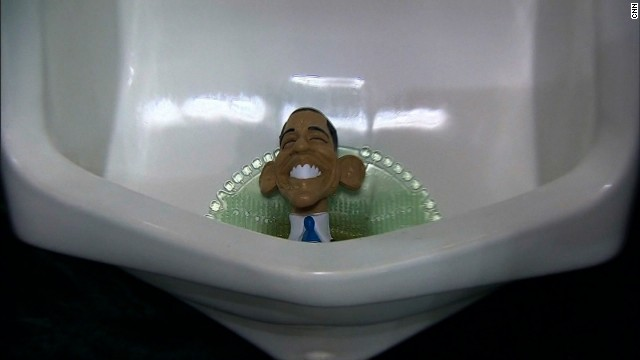 Obama image spotted in urinal