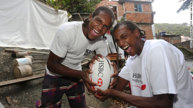 Marcos Paixao (left) is one of the country's brightest stars. He grew up in the favelas of Rio de Janeiro -- along with brothers Maicon (right), Max and Maxwilliam -- and says rugby offered a chance to get away from the violence and danger of his surroundings.