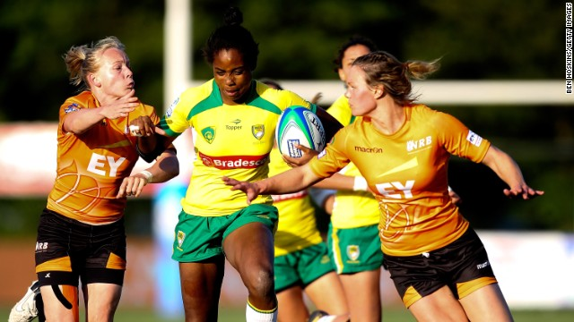 Brazil's women's sevens team is on the rise, too. They have become an invitational core team for the 2013/14 IRB Women's Sevens World Series, meaning they will have the chance to play at each tournament against the world's top sides.