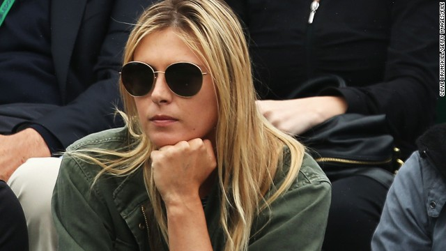 That defeat gave Sharapova the chance to support her boyfriend Grigor Dimitrov, who also lost in round two.