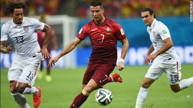Portugal's Cristiano Ronaldo played as if his injured left knee was no bother.