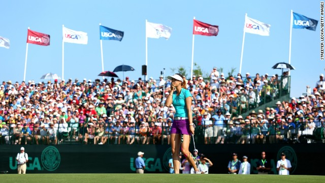 The Hawaiian had twice led her national open going into the final round, in 2005 and 2006, but finished tied for 23rd and tied third respectively on these occasions.