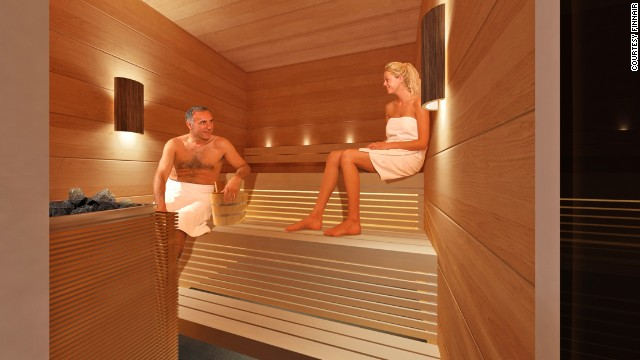 Finnair is capitalizing on its culture with an in-lounge sauna. The only thing missing is a post-sweat dip in an icy lake.