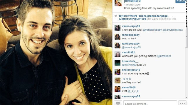 Derick Dillard and Jill Duggar shared got married on Saturday.