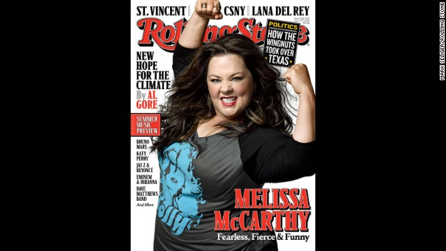 Melissa McCarthy is featured on the cover of Rolling Stone's Summer Double Issue.