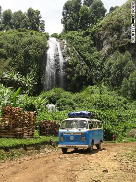 The tours take in waterfalls, such as this one along Wanale Ridge, Mount Elgon.