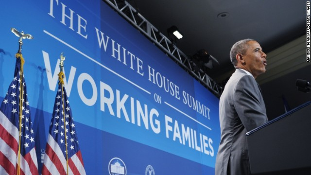 Obama recalls own family's struggle with work-life balance in vow to help working families