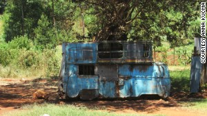 Many abandoned Kombis can be found in Uganda.