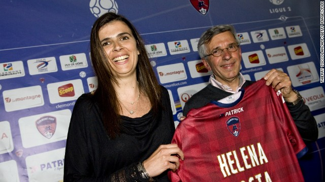 Portuguese Helena Costa was initially announced as Clermont Foot's coach in May.