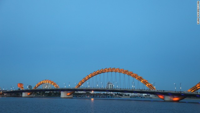The bridge is illuminated each night with thousands of LED lights.