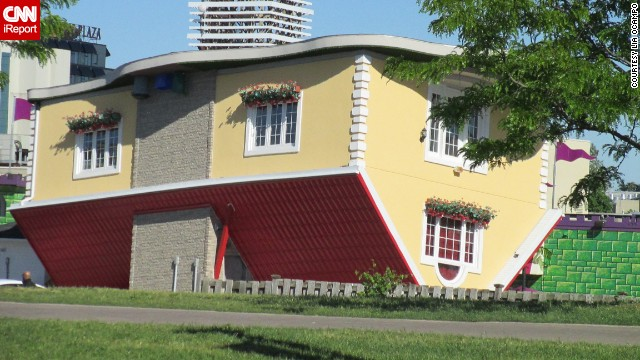The Upside Down House in Niagara Falls, Ontario, is a dizzying display for tourists seeking an attraction that is out of the ordinary.