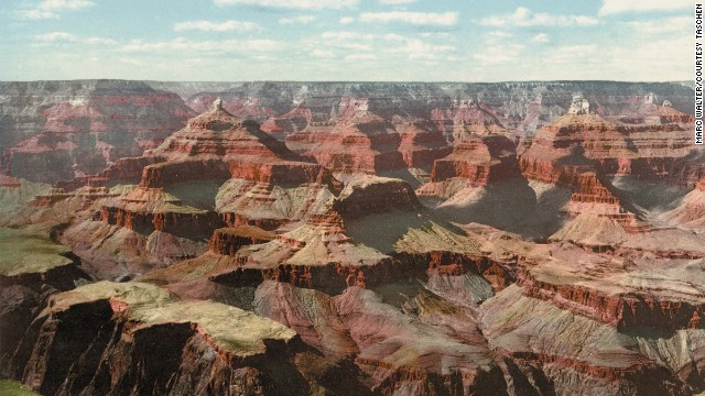In this print, several plates were printed with different brown inks to capture the dusty wonder of the Grand Canyon.