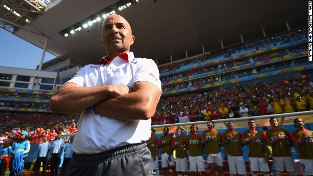 Jorge Sampaoli has won a number of admirers since becoming Chile coach in 2012. His high-energy, attacking brand of football has fired La Roja to the World Cup's round of 16, where host Brazil awaits.