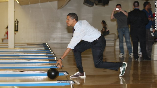 When Barack Obama <a href='http://www.cnn.com/video/?/video/politics/2008/03/30/vo.obama.bowling.alley.cnn&iref=allsearch'>went bowling</a&