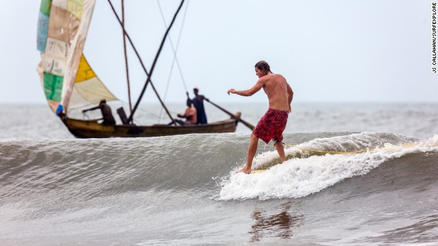 "Ghana's coastline and the Busua Beach area are a muddy, dusty, undiscovered surfers' paradise. ""It's one of West Africa's best surfing destinations,"" says John Callahan, a co-founder of <a href='http://surfexplore.info/' target='_blank'>surfEXPLORE</a>."