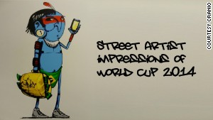 Graffiti artists tackle Brazil 2014