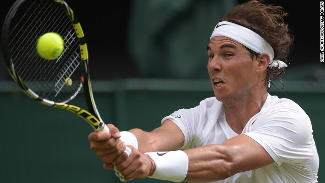 Rafael Nadal started his 2014 Wimbledon campaign with a win as he came from a set down to defeat Martin Klizan 4-6 6-3 6-3 6-3 on Centre Court.