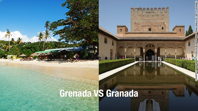 Who wouldn't want to go to Grenada in the Caribbean? Those trying to get to Granada, Spain.
