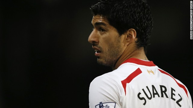 Controversial striker Luis Suarez
