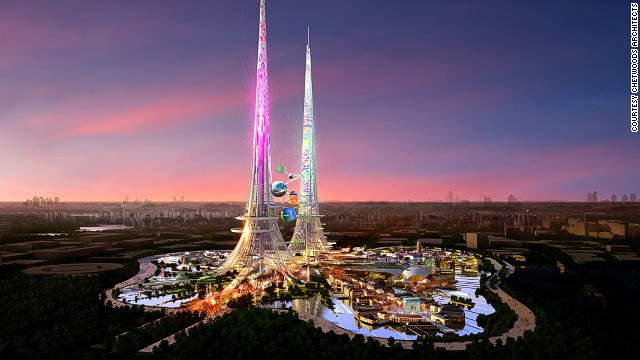 The Phoenix Towers, designed by UK-based Chetwoods Architects, will be taller than Burj Khalifa in Dubai, currently the world's tallest completed building.