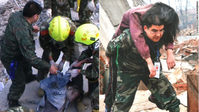 Chen Guangbiao gets his hands dirty volunteering at disaster zones in China.