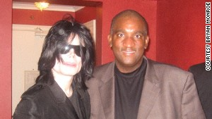 Bryan Monroe, right, conducted the last major interview with Michael Jackson in 2007 in New York.