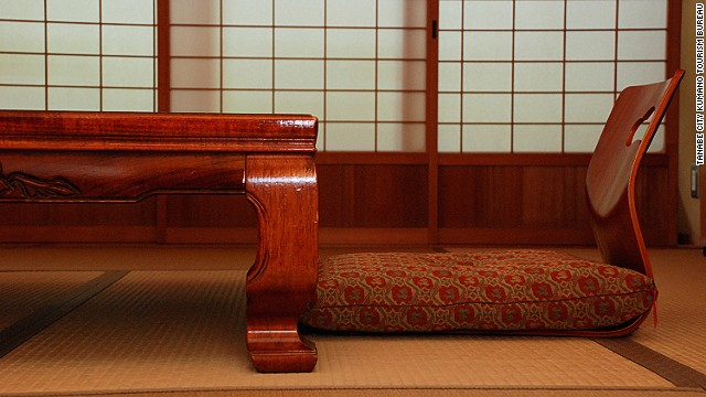 All the rooms at Kamigoten Ryokan are traditional Japanese-style suites with futons that the staff lay out before bed. The elevated Onarino-ma (room built for the ruler) is where the feudal lord, Yorinobu Tokugawa, used to stay and is the top suite in the building.