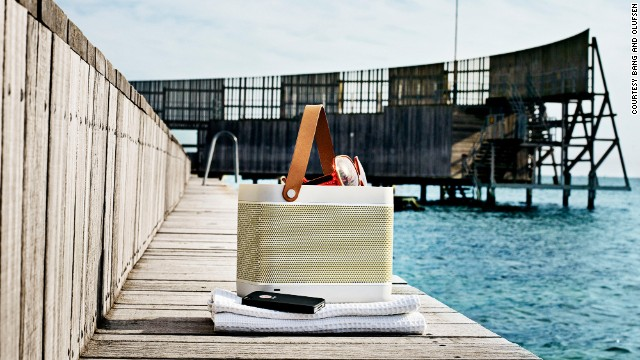 Bang and Olufsen Beolit 12 travel speaker is just about the coolest-looking iPhone-ported speaker set we've seen. It comes with an eight-hour battery life.