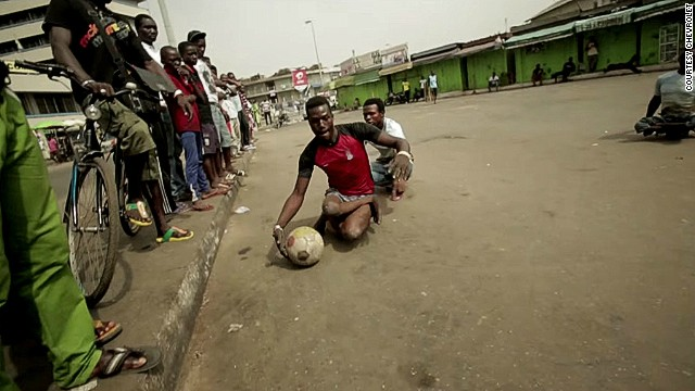 The Rolling Rockets, made up of polio survivors, are a Ghanaian skate soccer team.
