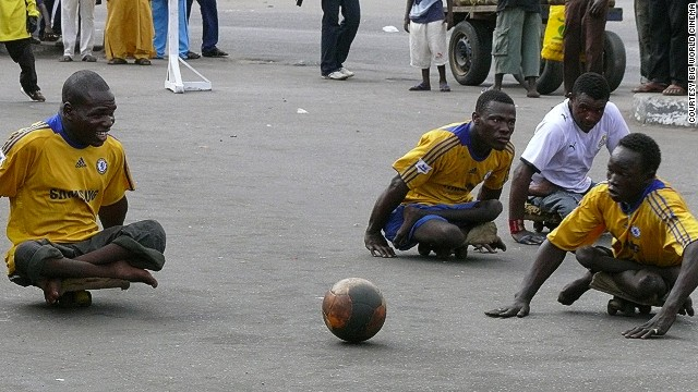 During the week, many of the players beg in the streets for money.