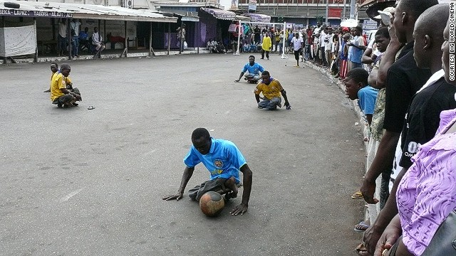 Though many ignore the men when they see them begging in the streets, the Rolling Rockets' Sunday games can attract hundreds of spectators.