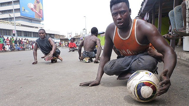 The players meet every Sunday at an abandoned taxi stand in Accra, the nation's capital.