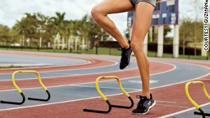 Side hopping over agility ladders sculpts sexy thighs and reduces injury risk.