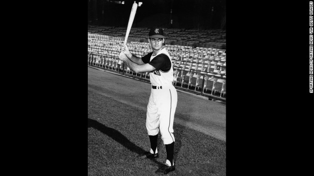 Baseball was big around the country as exciting young players, like Tony La Russa, joined lineups. La Russa, pictured here with the Kansas City A's in 1963, will be inducted into the National Baseball Hall of Fame in Cooperstown, New York, in July 2014.