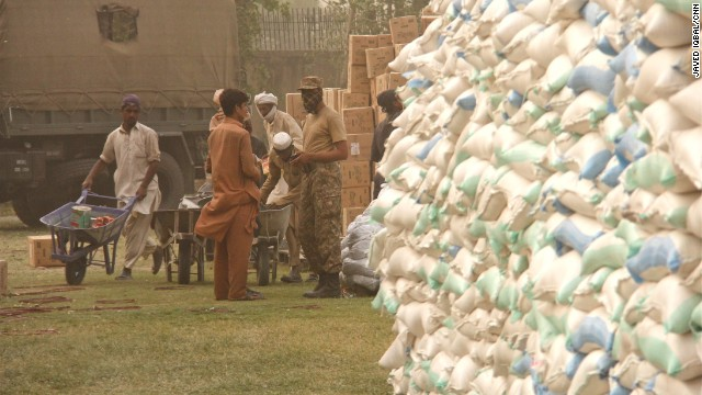 Until recently, this was the only food distribution point for the thousands of displaced people in Bannu.