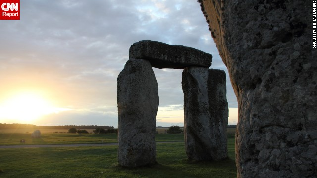 "The clouds break through on a mild July evening at Stonehenge to illuminate the sarsen stones, providing ""a brilliant summer backdrop to this amazing place,"" said <a href='http://ireport.cnn.com/docs/DOC-1145557'>Ken Arbuckle</a>, who captured this image during a July 2011 vacation."