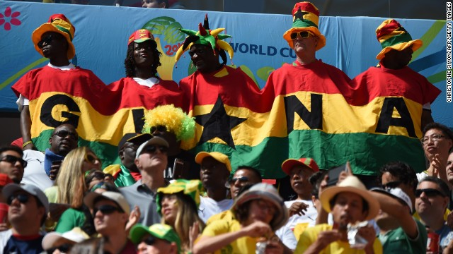 Ghana fans gather before the game against Portugal. See the best World Cup photos from June 25.