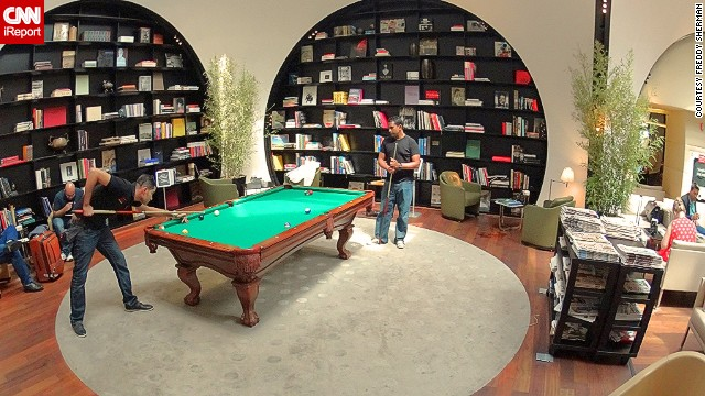 The CIP Lounge at Istanbul's Ataturk Airport is also a handy place to play pool. With so much entertainment at hand, who needs an iPhone?