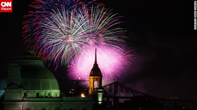 In late July 2012, <a href='http://ireport.cnn.com/docs/DOC-996683'>Mark Conner</a> attended the L'International des Feux Loto-Québec. The annual international fireworks competition in Montreal, Quebec, offers up a dazzling display of color and light.