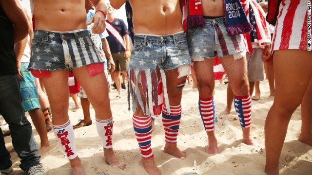 U.S. supporters watch the Germany game at a FIFA Fan Fest in Rio de Janeiro.
