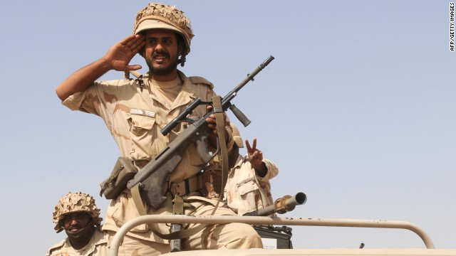 Fle photo: Saudi troops are pictured near the country's border with Yemen in 2009. King Abdullah has ordered that