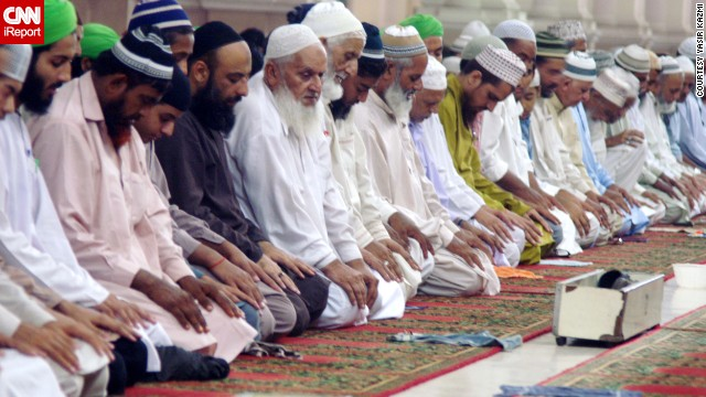 Worshippers at Karachi's Memom mosque in Pakistan perform Tarawih, or extra evening prayers, for the holy Muslim festival of Ramadan in 2013. <a href='http://ireport.cnn.com/docs/DOC-1006389'>See more photos on iReport.</a>