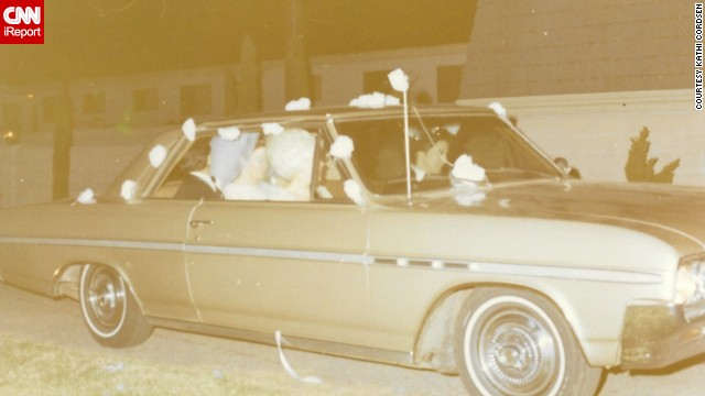 "When <a href='http://ireport.cnn.com/docs/DOC-1142579'>Kathi Cordsen</a> got married in January 1970, she and her husband left the wedding reception in her mother-in-law's 1964 Buick Skylark. They didn't realize it at the time, but that car was a wedding present. ""We drove it home on our wedding day and never had to give it back,"" she said. ""My husband and I were pretty shocked and extremely happy."""
