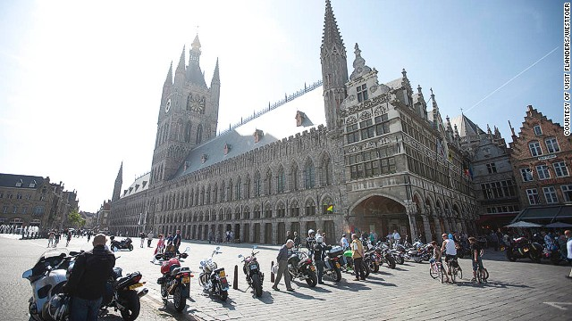 This year marks the first time the Tour de France passes through the Belgian town of Ypres -- a route chosen to commemorate the millions who died a century ago on nearby World War I battlefields.