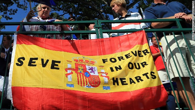Ballesteros' popularity endures and at the 2012 Ryder Cup, his friend and European captain Jose Maria Olazabal -- as well as golf fans -- made sure he was remembered.