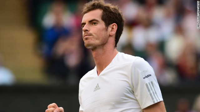 Andy Murray delighted his home fans on Centre Court with an evening stroll against Roberto Bautista Agut o f Spain.