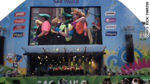 World Cup fan zone in Sao Paulo