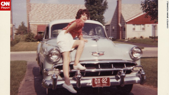 <a href='http://ireport.cnn.com/docs/DOC-99316'>Brian McDaniels </a>bought this powder blue 1954 Chevrolet Bel Air when he was 18. It's the car he would meet his future wife Linda in. She is seen here in 1962, sitting on the car in front of his driveway in Columbus, Ohio.